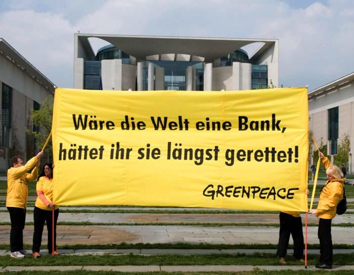 Wäre die Welt eine Bank, wäre sie schon längst gerettet worden