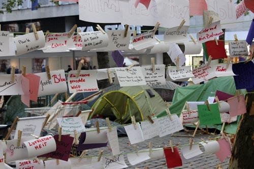 Occupy Hamburg Wunschzettel