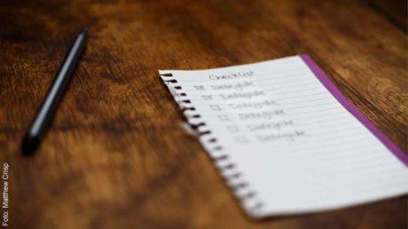 Checkliste: Besser leben