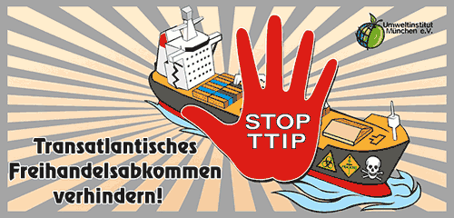 Kampagnenbild TTIP vom Deutschen Umweltinstitut