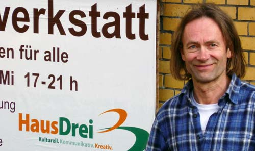 Manfred Timpe vom HausDrei in Hamburg-Altona über das Repair Café