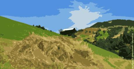 Freiwilligenarbeit bei Bergbauern
