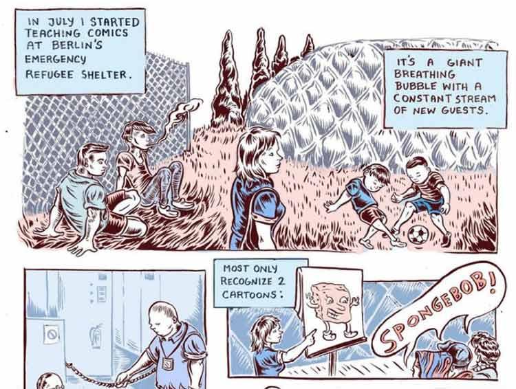 Comic-Workshop mit Flüchtlingen, Ali Fitzgerald