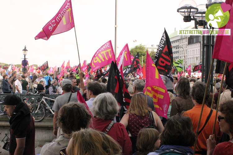 Das war die Demo gegen CETA und TTIP Hamburg