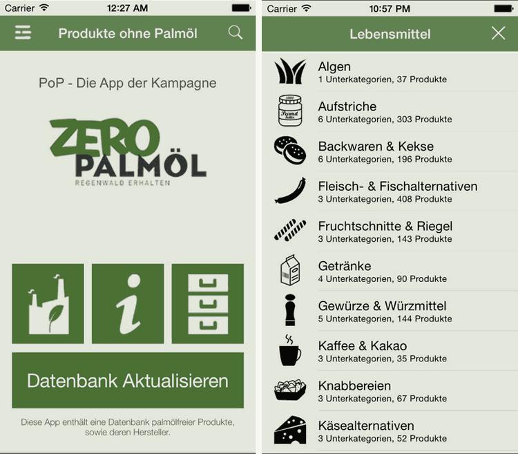 Einkaufen ohne Palmöl: Die App ZeroPalmöl