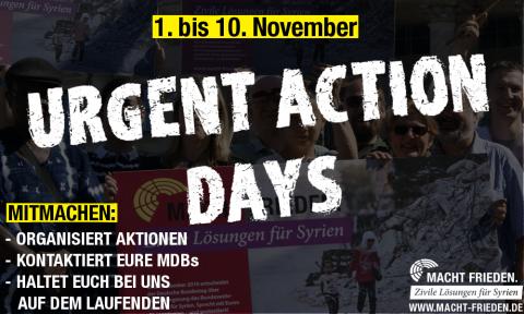Frieden für Syrien: Die Urgent Action Days in Deutschland