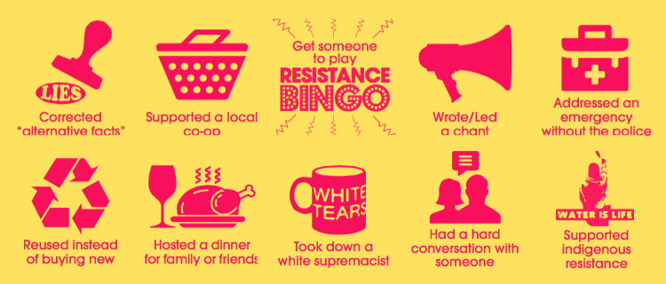 Resistance Bingo, Center for StoryBased Strategy