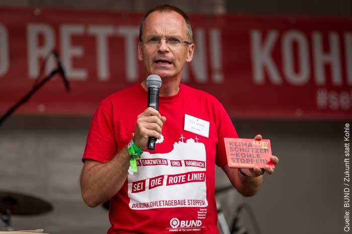 """Dirk Jansen, Geschäftsleiter des BUND Nordrhein-Westphalen und Sprecher des Aktionsbündnisses """"Zukunft statt Kohle"""""""