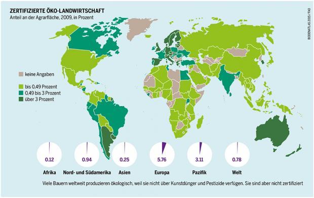 Ökolandwirtschaft weltweit, Bodenatlas