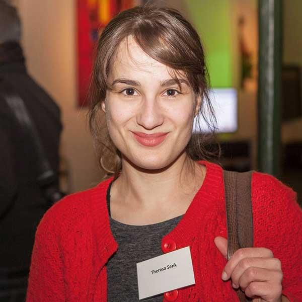 Theresa Senk bei der Konferenz für eine bessere Welt