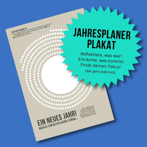 Jahresplaner-Plakat für eine bessere Welt