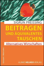 """Cover """"Beitragen und Äquivalendes Tauschen"""" von Sigrun Preissing"""