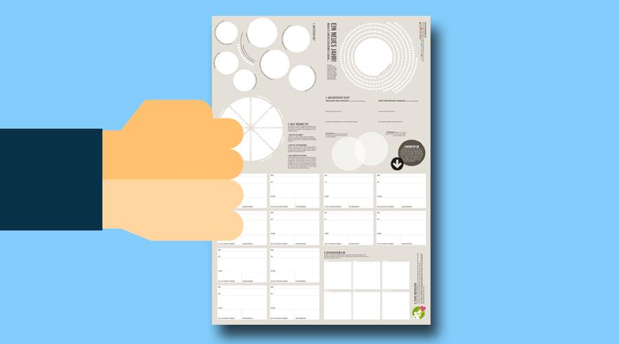 Jahresplaner für eine bessere Welt als Plakat